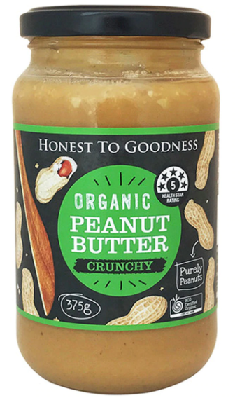 Crunch Peanut Butter 375g - Honest to Goodness