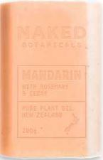 Body Soap Bar Mandarin  - Naked Botanicals