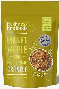 Millet Maple & Macadamia Granola - Freshness Fine Foods