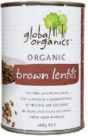 Brown Lentils 400g - Global Organics