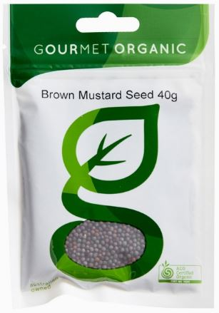 Brown Mustard Seed (40g) - Gourmet Organic