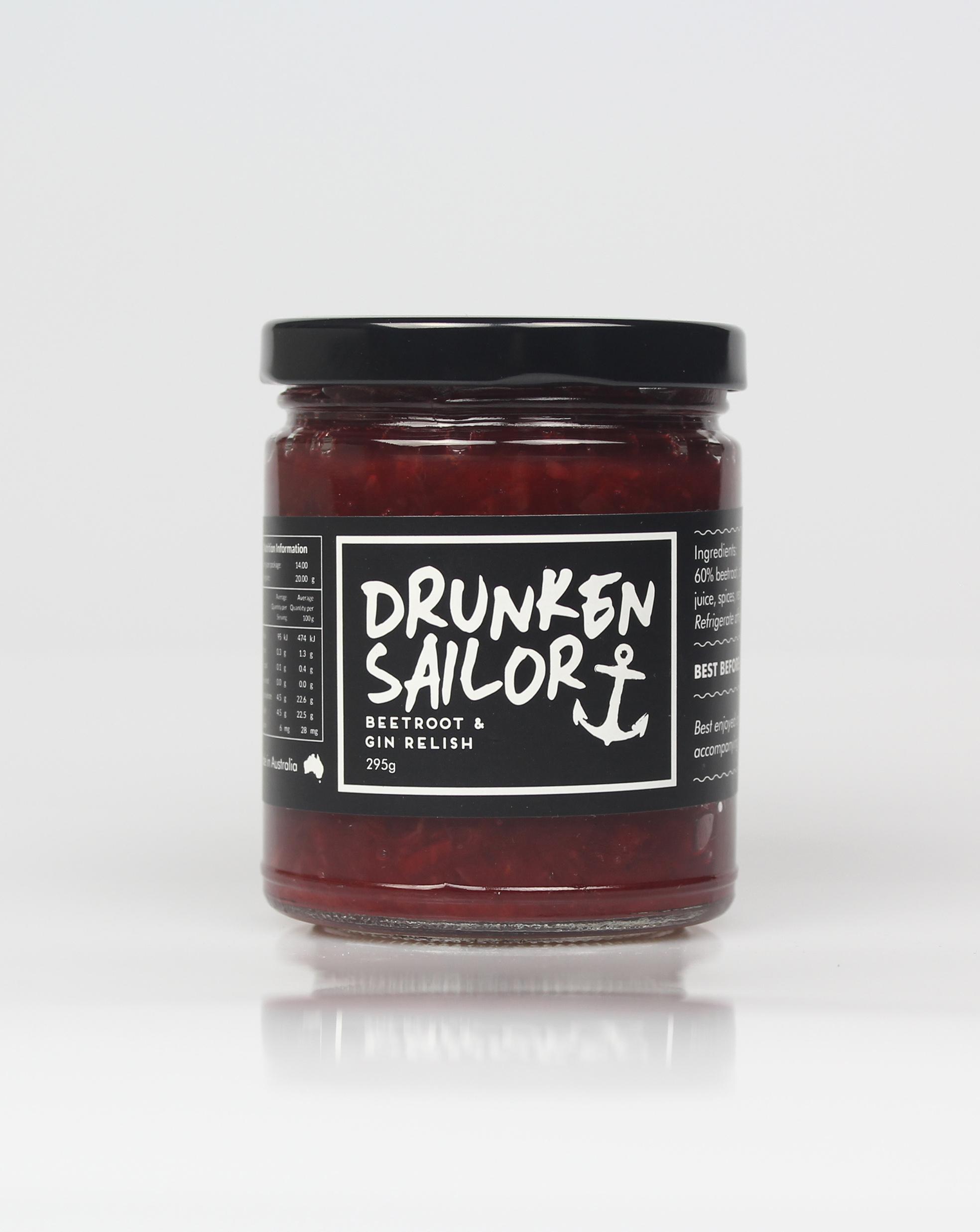 Drunken Sailor Beetroot & Gin Relish 260g