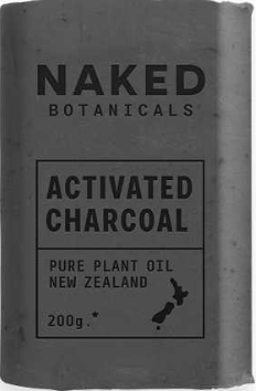 Body Soap Bar Activated Charcoal - Naked Botanicals