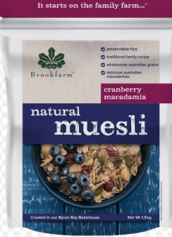 Natural Muesli (1.5kg) - Brookfarm