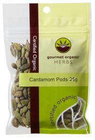 Cardamom Pods (25g) - Gourmet Organic