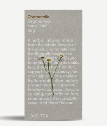 Chamomile Loose Leaf (50g) - Love Tea