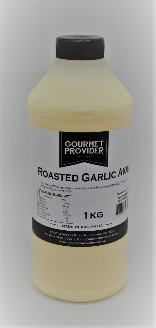 Aioli Roasted Garlic Squeezy 1 Kg