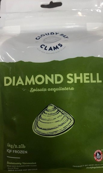 NZ frozen raw diamond shell clams