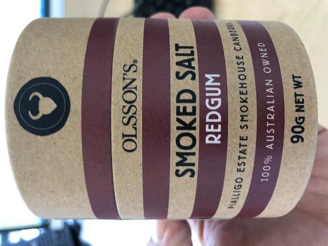 Olssons red gum smoked salt 90g