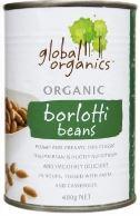 Borlotti Beans 400g - Global Organics