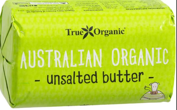 Butter Unsalted Butter (250g) - True Organic