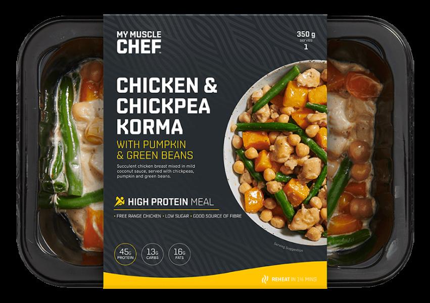 Chicken & Chickpea Korma with Pumpkin & Green Beans