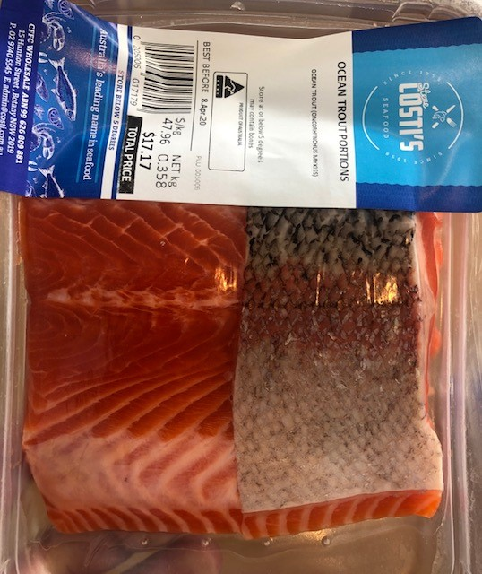 Tas ocean trout port skin on