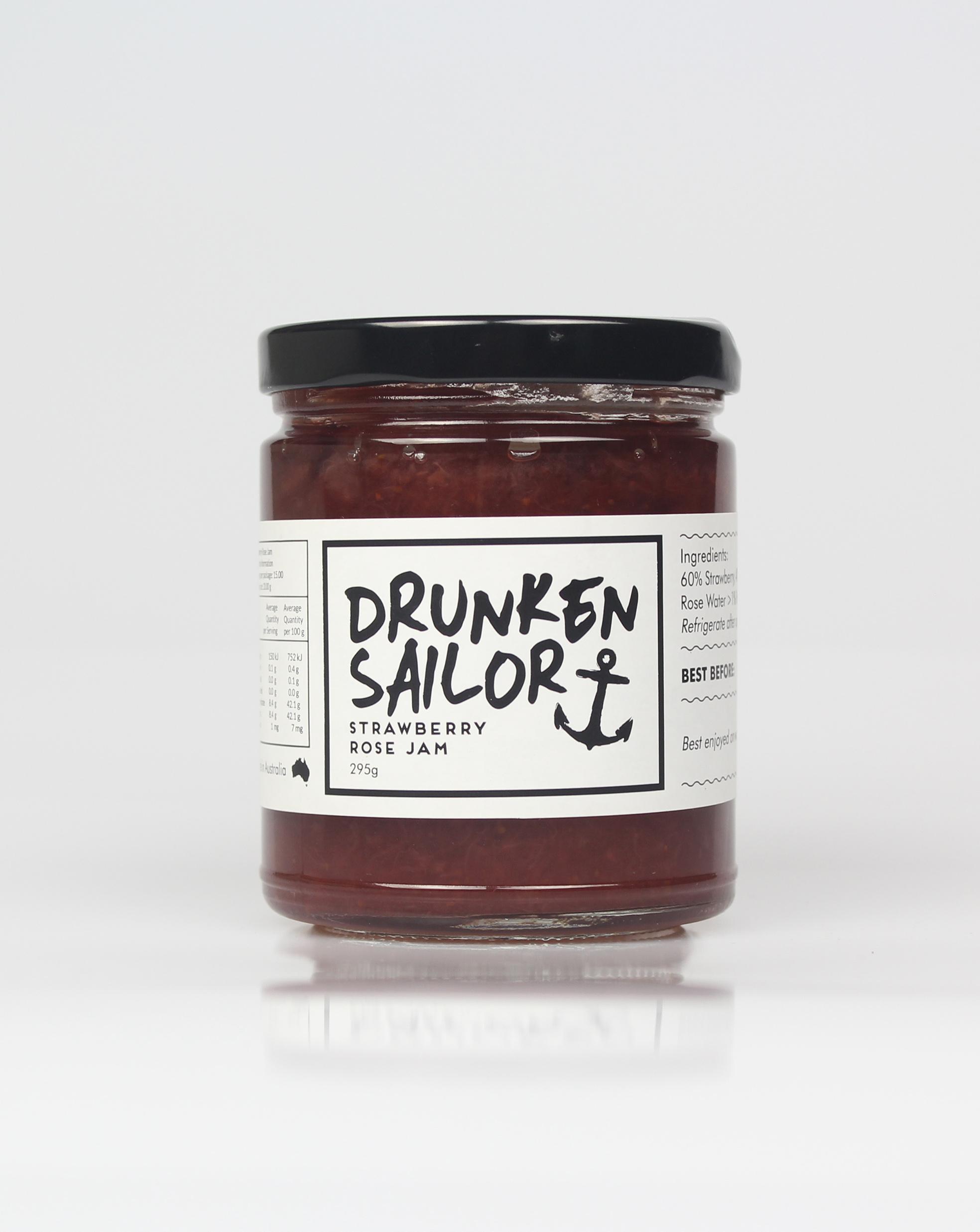 Drunken Sailor Strawberry Rose Jam 260g